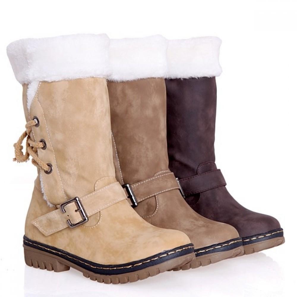 Women's Snow Boots Faux Fur Mid Calf