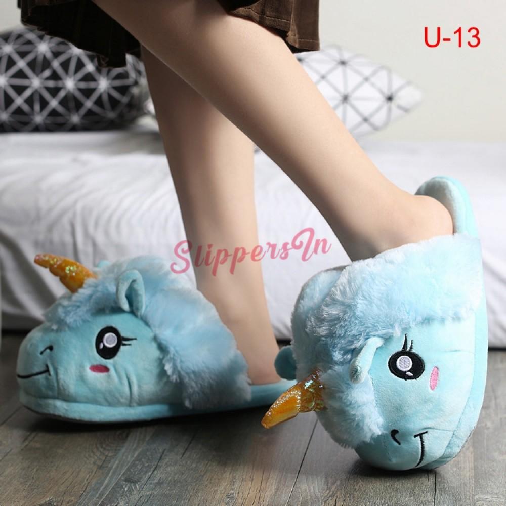 Unicorn Slippers Adult and Child Plush
