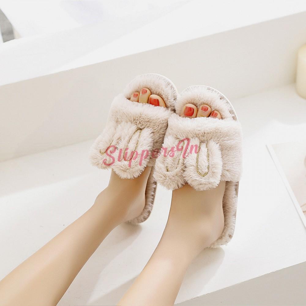 Cute Womens Bunny Slippers Open Toe