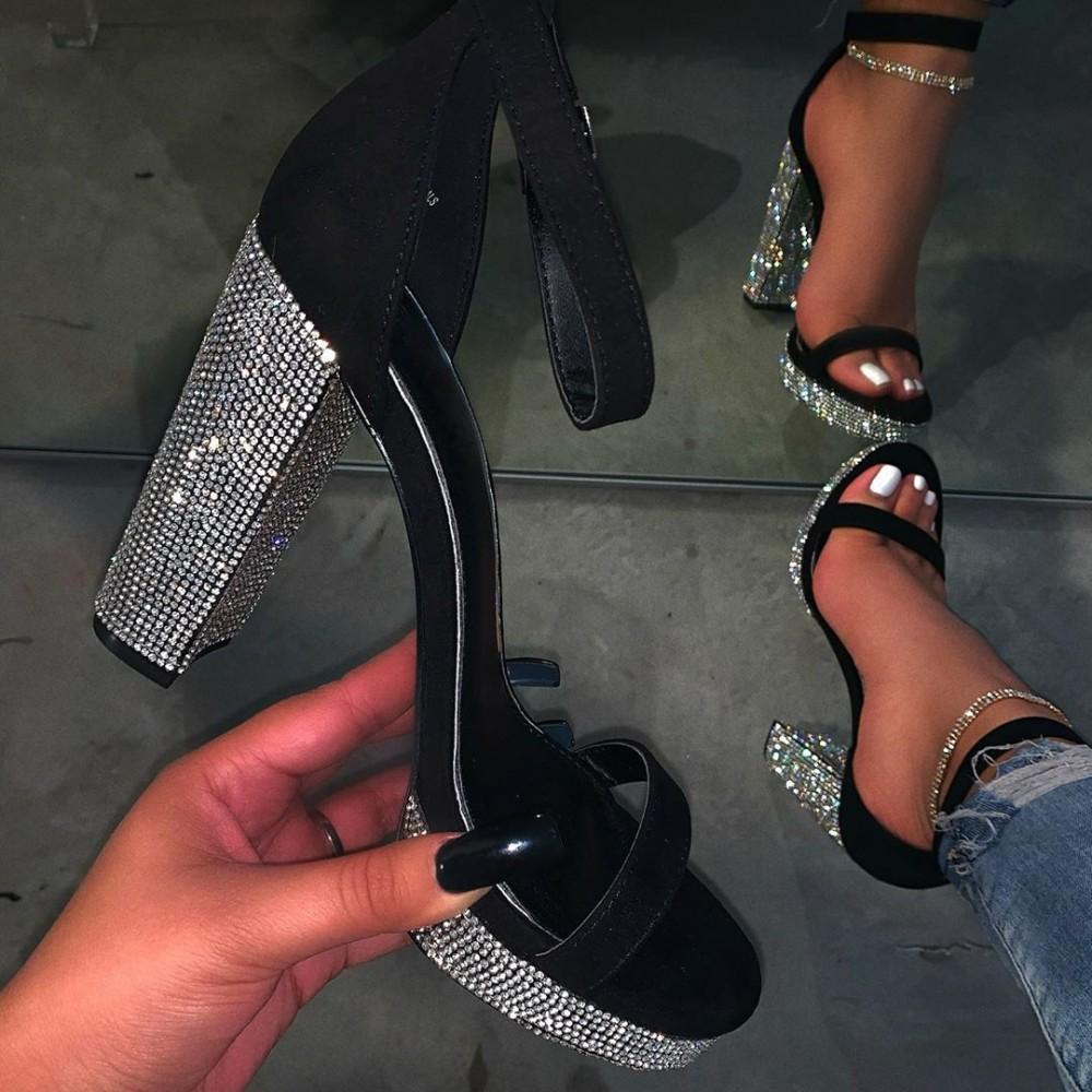 Stunning Black Platform Sandals