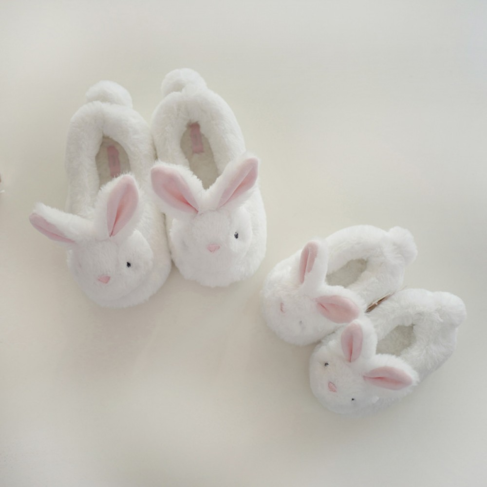 Cute Kids Bunny Slippers Fuzzy Closed