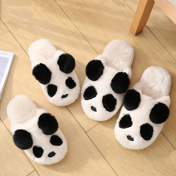 Cute Panda Slippers for Adults and Kids House Animal Fuzzy Slippers