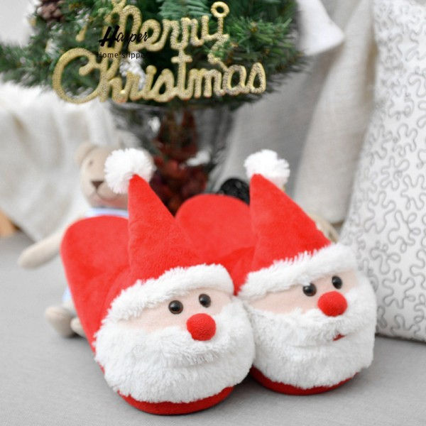 Christmas Slippers for Adults and Big Kids Santa Open Heel Slippers