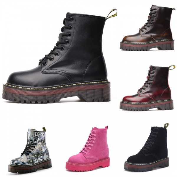 Dr. Martens For Women Cool Black 8-Eye Combat Boots