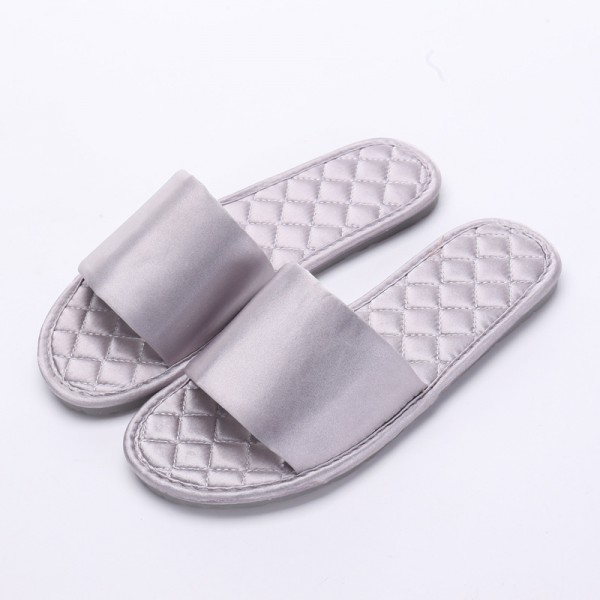 Womens Silk House Slippers Ladies Memory Foam Bedroom Slippers