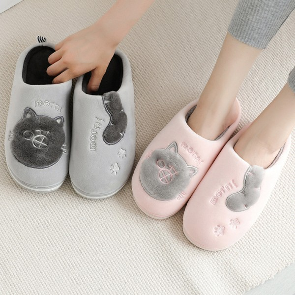 Womens and Mens Slippers Memory Foam Warm House Scuffs
