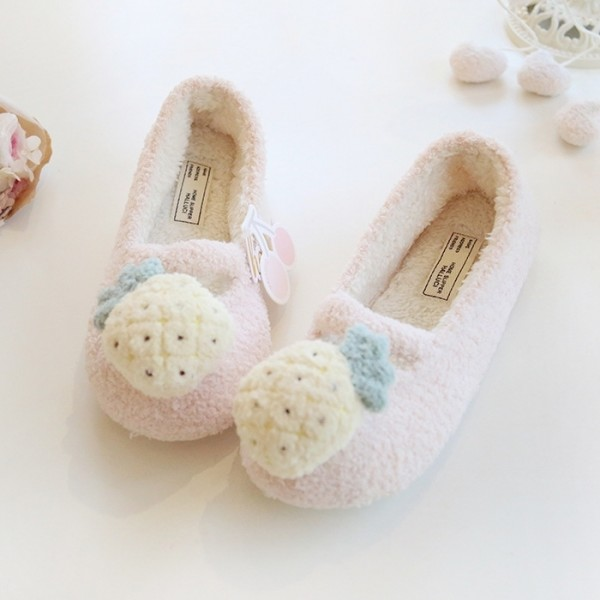 Women's Cute Ballerina Slippers Comfy Fleece House Shoes