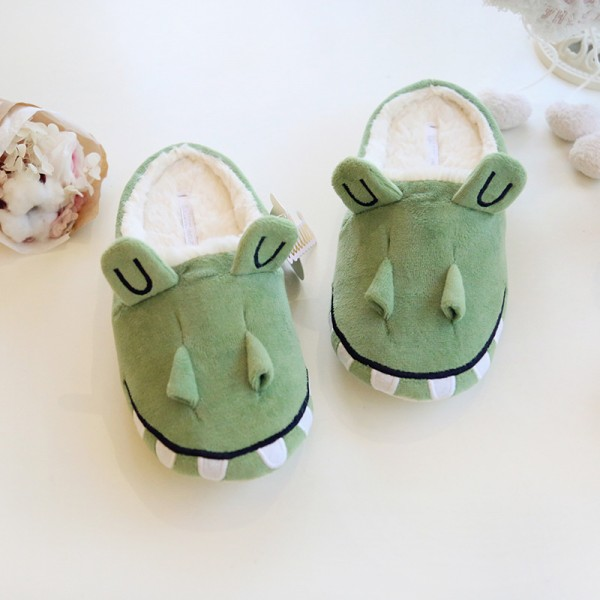 Women's House Slippers Fuzzy Crocodile Animal Slippers