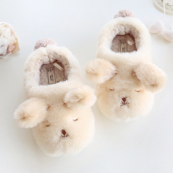 Comfy Puppy Dog Slippers for Women Warm House Shoes