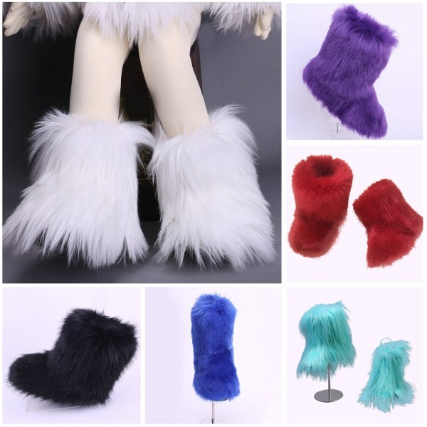 Girl's Furry Winter Boots Chic Short Boots for Toddlers and Kids