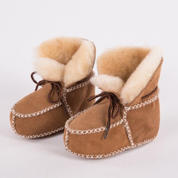 Winter Fleece Kids Slippers Warm Wool Toddler Boots