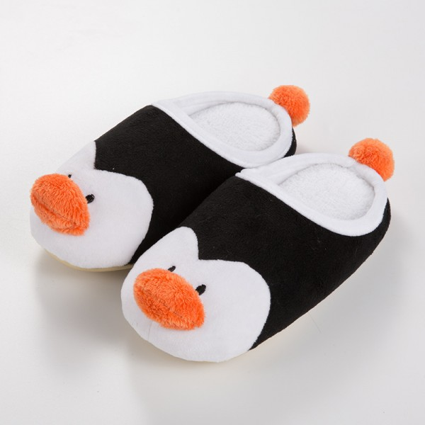Kids Animal Penguin Slippers Hoodback House Shoes