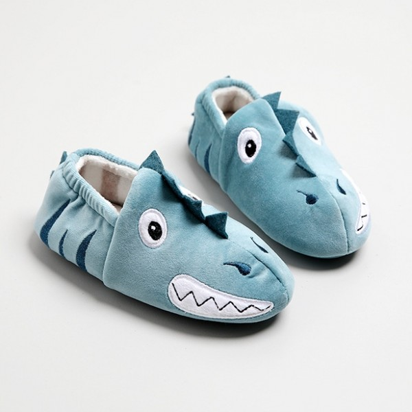 Kids Dinosaur Slippers Memory Foam Closed Back Boy's House Shoes