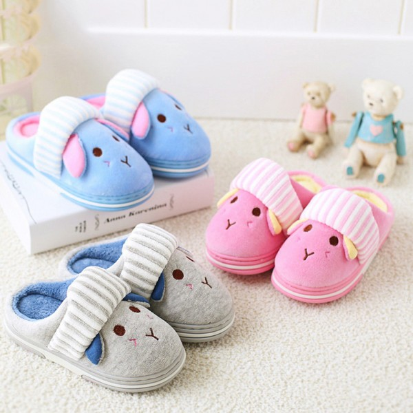 Cute Cartoon Slippers for Boys and Girls Cute Puppy Dog Scuff Slippers