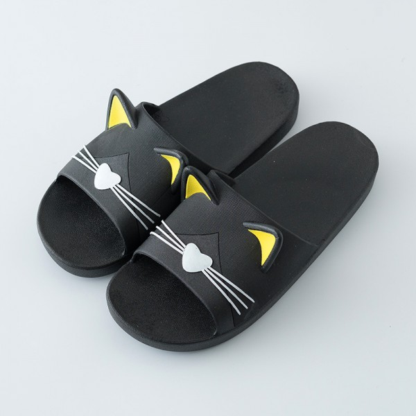 Men's Shower Slippers Summer Cat Couple House Slippers